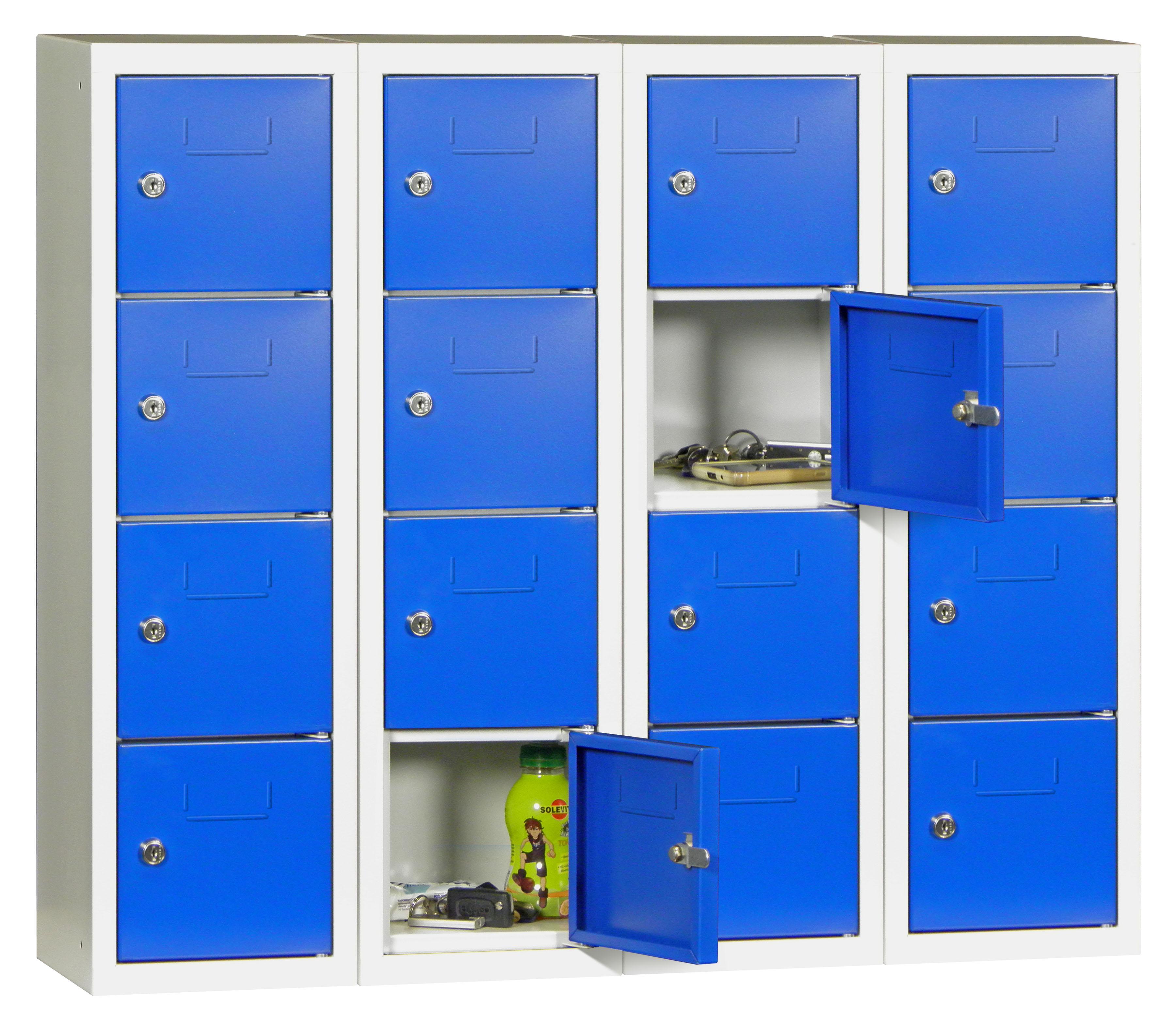 Minischließfachschrank 16 Fächer HxBxT: 778 x 900 x 200 mm | günstig bestellen bei assistYourwork