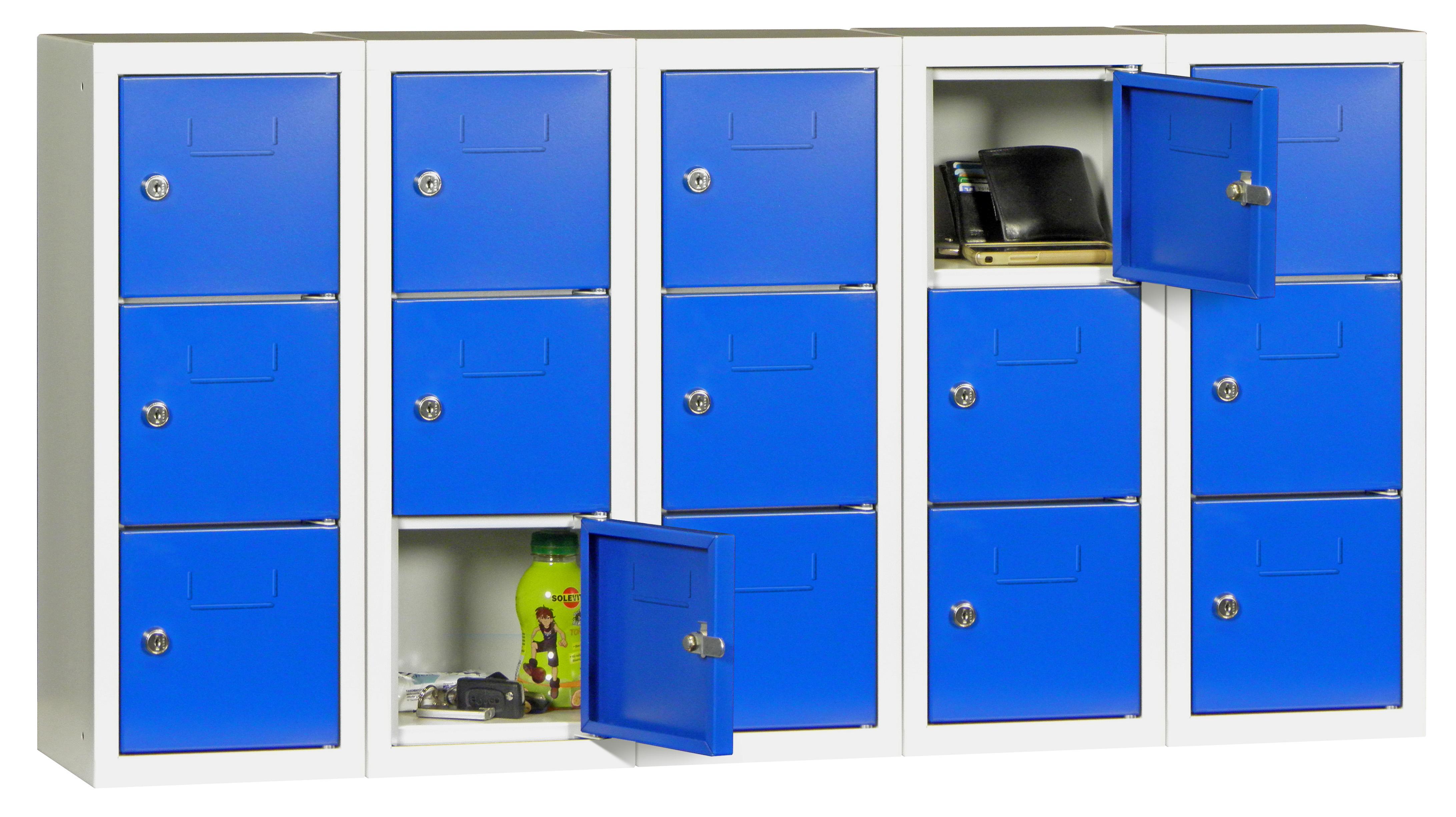 Mini-Wertfachschrank 15 Fächer HxBxT: 598 x 1125 x 200 mm, Münzpfandschloss | günstig bestellen bei assistYourwork