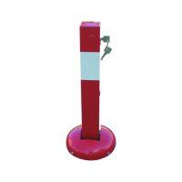 Anfahrsicherer Absperrpfosten, umlegbar, Profilzylinderschloß, rot-weiß, Modell 40215UZB | günstig bestellen bei assistYourwork