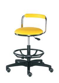Laborhocker mit Kunstleder-Sitzfläche und Fussring aus Aluminium | günstig bestellen bei assistYourwork
