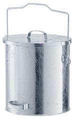 verzinkter Mülleimer 30 Liter, mit Gleitdeckel | günstig bestellen bei assistYourwork