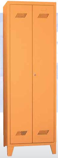 Putzmittelschrank 1850x600x500mm auf Füßen, Trennwand | günstig bestellen bei assistYourwork
