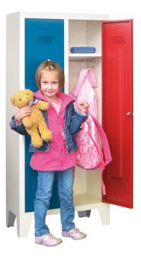 Kinder-Spind 1300x530x300mm, 2 Abteile, für Kindergartenkinder   günstig bestellen bei assistYourwork