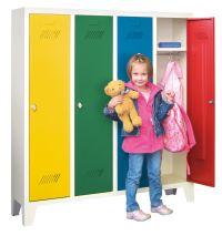 PAVOY Kinder-Spind 1300x1030x300mm  4 Abteile, für Kindergartenkinder | günstig bestellen bei assistYourwork