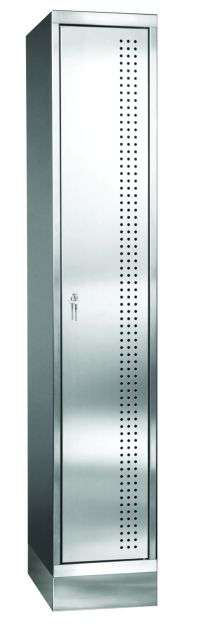 Garderobenschrank aus Edelstahl 1800x325x500mm, 1 Abteil 300mm | günstig bestellen bei assistYourwork
