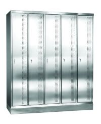 Garderobenschrank aus Edelstahl 1800x1525x500mm, 5 Abteile á 300mm | günstig bestellen bei assistYourwork