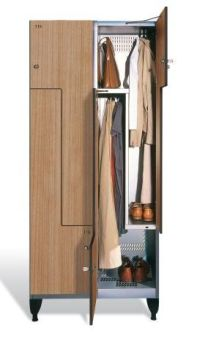 Spinde Holz z spind mit 4 abteilen á 150 300mm