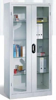 Medikamentenschrank 1950x930x500mm mit Sichtfenstertüren | günstig bestellen bei assistYourwork