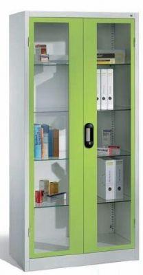 Medikamentenschrank 1950x1200x500mm mit Sichtfenstertüren | günstig bestellen bei assistYourwork