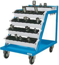 CNC- Transportwagen 02.88.06A mit 6 Werkzeugträgern inkl. Einsätzen | günstig bestellen bei assistYourwork