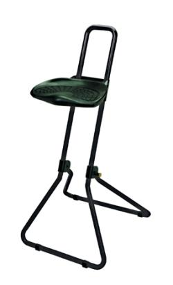 klappbare Stehhilfe mit PU- Sitzfläche, Rundrohrgestell | günstig bestellen bei assistYourwork