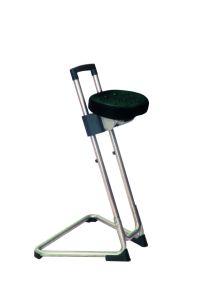 Edelstahl - Stehhilfe 600-850mm Sitzfarbe schwarz | günstig bestellen bei assistYourwork