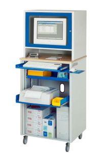 Computer-Steharbeitsplatz 720x660x1810mm inkl. Monitoraufsatz Standard | günstig bestellen bei assistYourwork