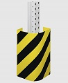 Anfahrschutz für Palettenregal STAHL halbrund extrem stabil, Rammschutz 400mm | günstig bestellen bei assistYourwork