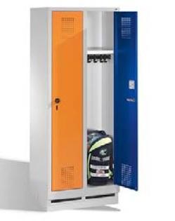S3000 EVOLO Schul- Garderobenschrank 2 Abteile, 1600x610x500mm, Sockel   günstig bestellen bei assistYourwork