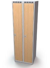 Schulspind 2-teilig, MDF-Türen Abteilbreite: 400 mm, 1920 mm hoch | günstig bestellen bei assistYourwork