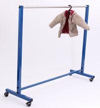 Standgarderobe mit Bügelstange 1500 mm lang 3 verschiedene Höhen | günstig bestellen bei assistYourwork