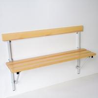 Klappbank 131457 600 - 1200mm mit Kiefernholzleisten, mit Platzspareffekt | günstig bestellen bei assistYourwork
