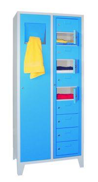 Wäschesammel-- Ausgabeschrank 1850x770x500mm   günstig bestellen bei assistYourwork