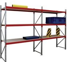Weitspannregal Willy 2000x1500x600mm Grundfeld 3 Stahlpaneelebenen 320kg | günstig bestellen bei assistYourwork