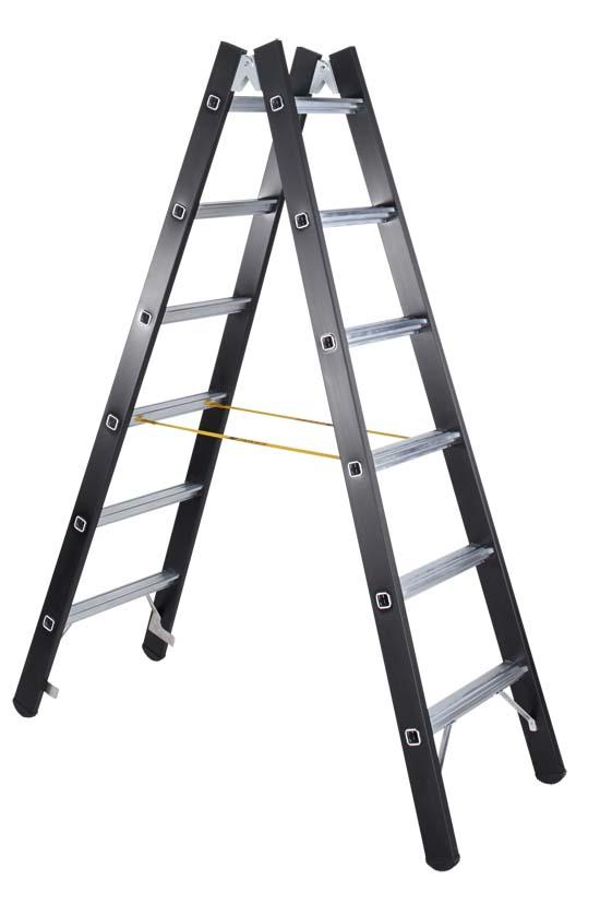 Sprossen-Stehleiter 41191, 2 x 6 Sprossen Schwerlastleiter, Modell Megastep B | günstig bestellen bei assistYourwork