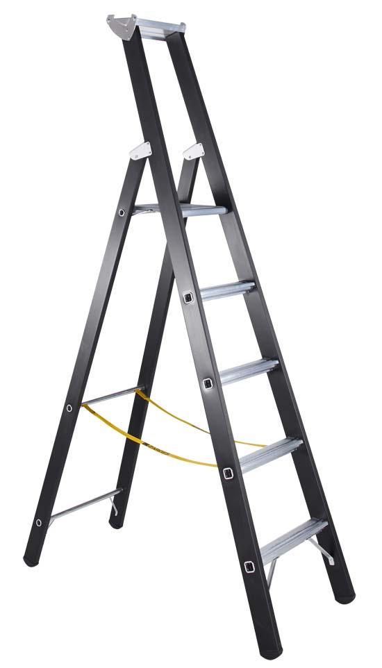 ZARGES Stehleiter 41147, 5 Sprossen, Schwerlastleiter Modell Megastep S | günstig bestellen bei assistYourwork