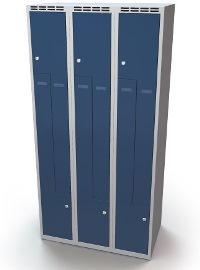 Z-Schrank 1920 x 900 x 500 mm doppelwandige Türen, 6 Abteile   günstig bestellen bei assistYourwork