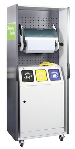 Cleaning Center 670-100-0-0-300 mit Abfallsammler Triplex + Rollenhalter   günstig bestellen bei assistYourwork