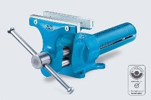 HEUER Schraubstock mit auswechselbaren Backen - Backenbreite 120 mm | günstig bestellen bei assistYourwork