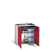 Beistellschrank HxBxT 1000x500x500mm Zylinderschloss, 1 Schublade, EXPRESS | günstig bestellen bei assistYourwork