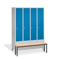 Select Garderobenspind vorgebauter Sitzbank1-100239 4 Abteile á 300mm,EXPRESS LIEFERUNG | günstig bestellen bei assistYourwork