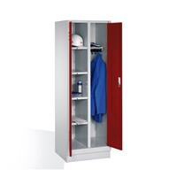 Wäsche- und Garderobenschrank auf Sockel, 2 Abteile, EXPRESS-Lieferung | günstig bestellen bei assistYourwork