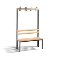 Einseitige Garderobenbank EXPRESS-LIEFERUNG mit Rückenlehne,Hakenleiste ohne Schuhrost, | günstig bestellen bei assistYourwork