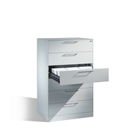 Asisto Karteischrank, 6 Schubladen 3-bahnig 1298x800x600mm EXPRESS-LIEFERUNG | günstig bestellen bei assistYourwork