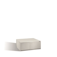 Flachablageschrank ohne Sockel Serie 7100 5 Schubladen, EXPRESS-LIEFERUNG | günstig bestellen bei assistYourwork