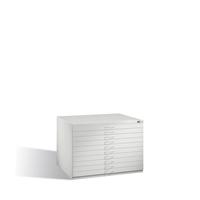 Flachablageschrank ohne Sockel Serie 7100 10 Schubladen, EXPRESS-LIEFERUNG | günstig bestellen bei assistYourwork