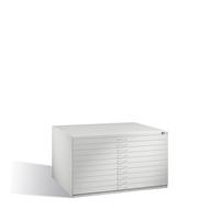 Flachablageschrank ohne Sockel Serie 7200 10 Schubladen, EXPRESS-LIEFERUNG | günstig bestellen bei assistYourwork