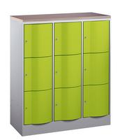 Select Resisto Schließfachschrank 1-100493 3x3 Fächer, HxBxT 1250x1150x540mm | günstig bestellen bei assistYourwork
