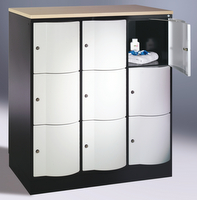 Select Resisto Schließfachschrank 1-100495 3x3 Fächer, HxBxT 1250x1150x640mm   günstig bestellen bei assistYourwork