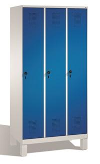 Garderobenschrank Evolo 49010-30 3 Abteile mit Stahltüren á 300mm, Füße | günstig bestellen bei assistYourwork
