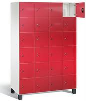 Fächerschrank S 7000 Prefino - 6 Fächer übereinander, 6x4 Abteile á 300mm, mit Glastüren | günstig bestellen bei assistYourwork