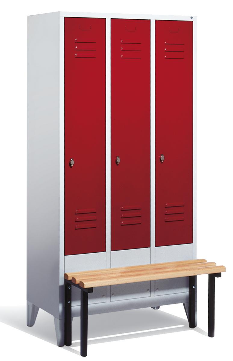 Classic Garderobenschrank mit Sitzbank│ Umkleideeinrichtung ...
