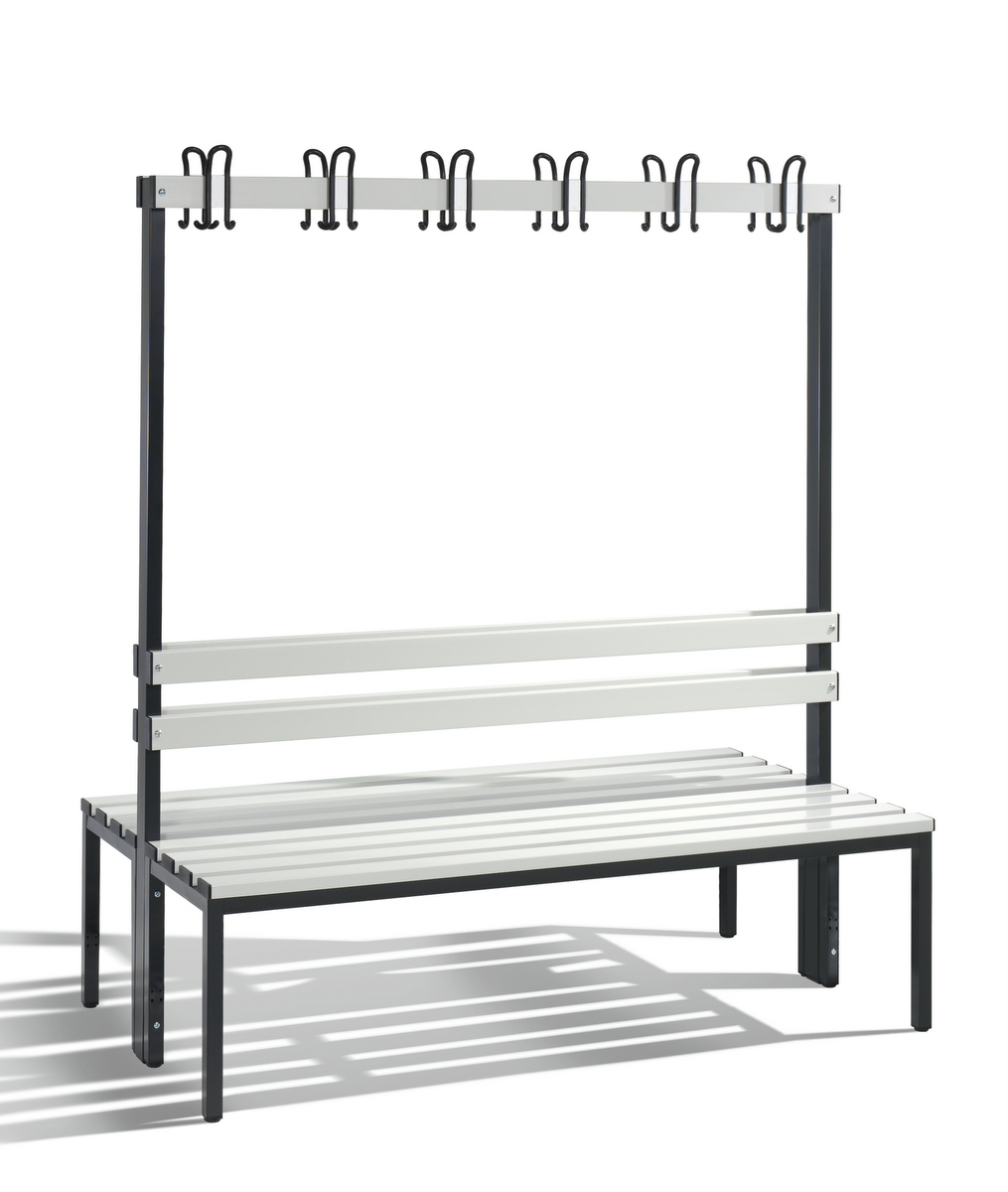 Freistehende Sitz-/Garderobenbank Basic │ Umkleide- Einrichtungen ...