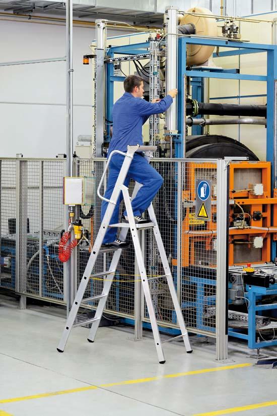 Stehleiter mit sicherheitsplattform zarges leitern for Escaleras zarges