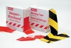 Absperrband rot - weiß aus Folie, VPE10 Rollen | günstig bestellen bei assistYourwork