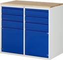 Schubladenschrank A3-LL7.2.2I-B, 4x120, 2x150, 2x540 Tür, Tragkraft 100 kg | günstig bestellen bei assistYourwork
