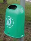 Abfallsammler 45l aus Kunststoff grün oder orange | günstig bestellen bei assistYourwork