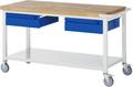 Werkbank A5-8002I6-12S, Serie Basic-8, fahrbar, BxTxH: 1250 x 700 x 880 mm   günstig bestellen bei assistYourwork