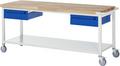 Werkbank A5-8002I6-20S, Serie Basic-8, fahrbar, BxTxH: 2000 x 700 x 880 mm   günstig bestellen bei assistYourwork