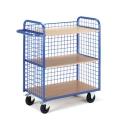Etagenwagen 3 Gitter-Wände 08-7351 800x490mm, 3 Böden, 1 Längswand | günstig bestellen bei assistYourwork